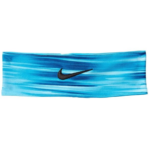 Nike Fury Headband (22 NZD) ❤ liked on Polyvore featuring accessories, hair accessories, head wrap hair accessories, nike headband, embroidered headbands, headband hair accessories and nike