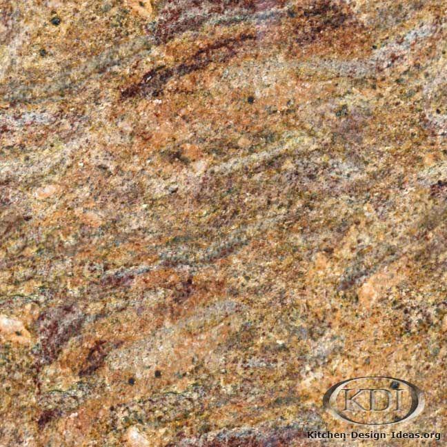 Granite Countertop Colors : Madurai gold granite kitchen design ideas