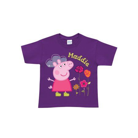 676435496 Personalized Peppa Pig Pretty Toddler Girk Purple T-Shirt, Toddler Unisex    Products   Purple t shirts, Peppa pig, Personalized t shirts