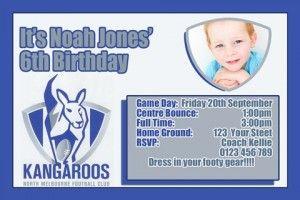 Kangaroo AFL  invite 2