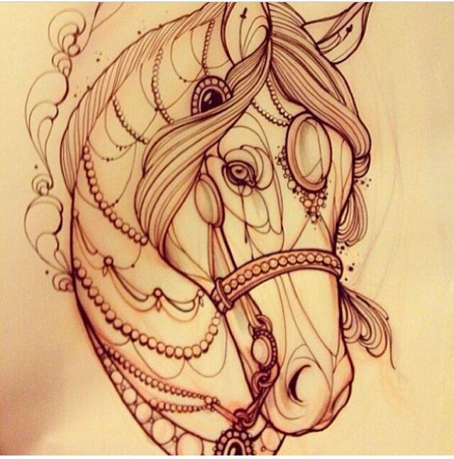 Line Drawing Horse Tattoo : Mejores imágenes sobre tatuajes en pinterest Árboles