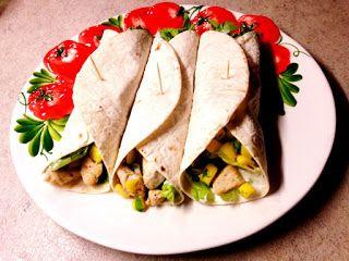 Krásné recepty od Aničky: Tortilla s kuřetem a mango salsou