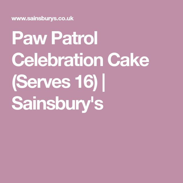 Paw Patrol Celebration Cake (Serves 16) | Sainsbury's