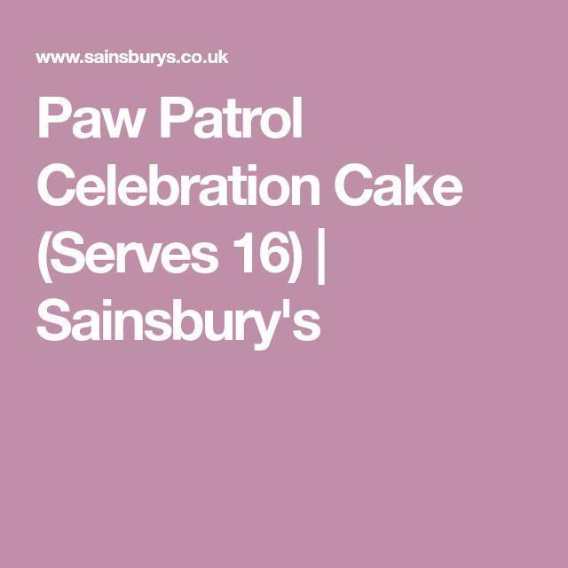 The 25 best sainsburys celebration cakes ideas on pinterest paw patrol celebration cake serves 16 sainsburys negle Choice Image