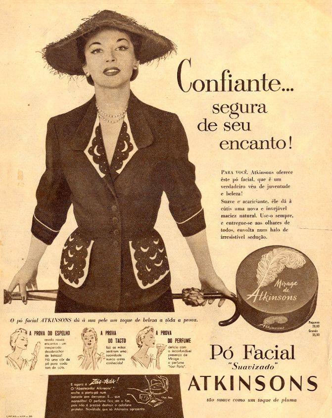 Pó facial Atkinsons | Em O Cruzeiro, 11 de setembro de 1954