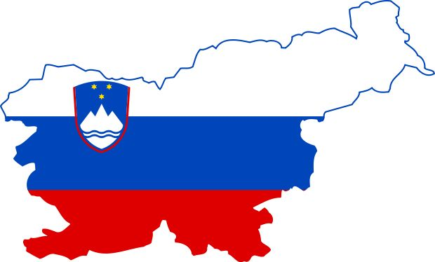 Flag & Map of Slovenia