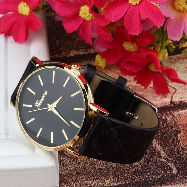 Cheap clock radio mp3 player, Buy Quality watch box for men directly from China watch nurse Suppliers:  2015 Hot, Luxury gold Geneva Women watch Geneva PU Leather Casual Quartz dress Watches Beige Reloj clock relojes Cheape http://www.thesterlingsilver.co