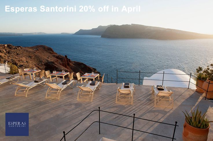 20% off for the month of April. For more information check here: https://esperas.reserve-online.net/  #santorini #oia #offer #discount