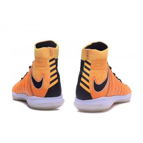 Botas De Futbol Sala Nike Hypervenom Phantom III DF IC Naranjas Negras  Baratas 27632db835dda