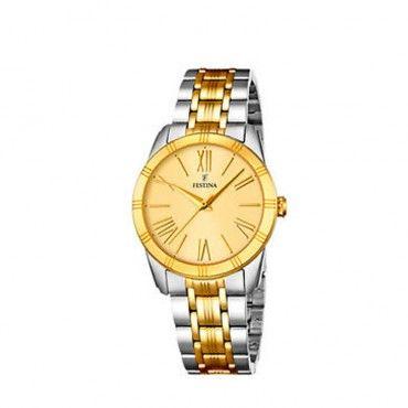 FESTINA steel bracelet F16941/1 Γυναικείο κλασικό ρολόι FESTINA με κίτρινο καντράν και μπρασελέ επιχρυσωμένο | FESTINA ΤΣΑΛΔΑΡΗΣ στο Χαλάνδρι #Festina #απλο #κιτρινο #μπρασελε #ρολοι