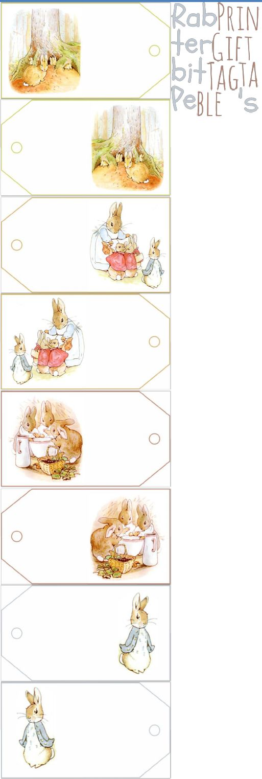 PRINTABLE GIFT TAGS Peter Rabbit