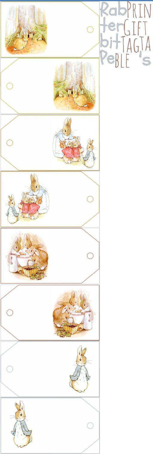 FREE printable GIFT TAGS Peter Rabbit