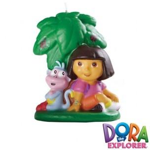 Deze Dora kaars van Wilton geeft je taarten de finishing touch! De kaars heeft mooie kleuren en is perfect voor kindertaarten.