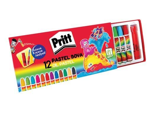 Pritt 12'li Pastel Boya Kalemi Seti 10,00 TL yerine, kdv dahil 4,99 TL