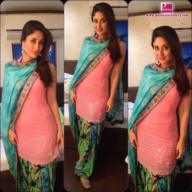 Kareena Kapoor in Nisshk Outfit By Nishka lulla At Bigg Boss 7 | Paul Embroidery