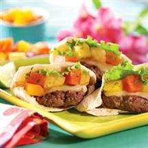 Caribbean Mini-Burgers with Apricot Pineapple Salsa from Smucker's®