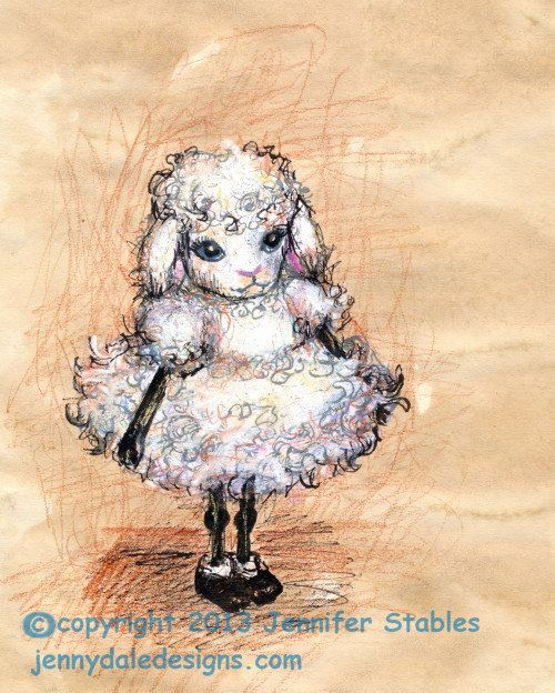 Cute GIrl Lamb, Nursery Art, Art for Girls, Cute Sheep Art, Farm Theme Art: Holly the Lamb- hand signed art print on Etsy, $23.00 CAD