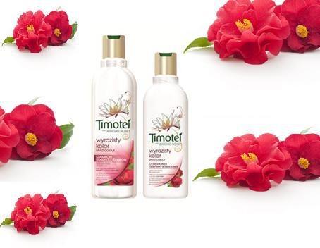 Řada Timotei Jasné barvy určena pro barvené vlasy.    Obsahuje přírodní výtažky z kaméliového oleje. Ten barvené vlasy chrání a vyživuje je, aby déle zachovaly jas barvy.