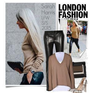 Sarah Harris - London Fashion Week 2015