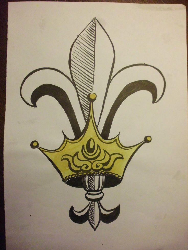 28 best Fleur De Lis Crown Tattoo images on Pinterest ...
