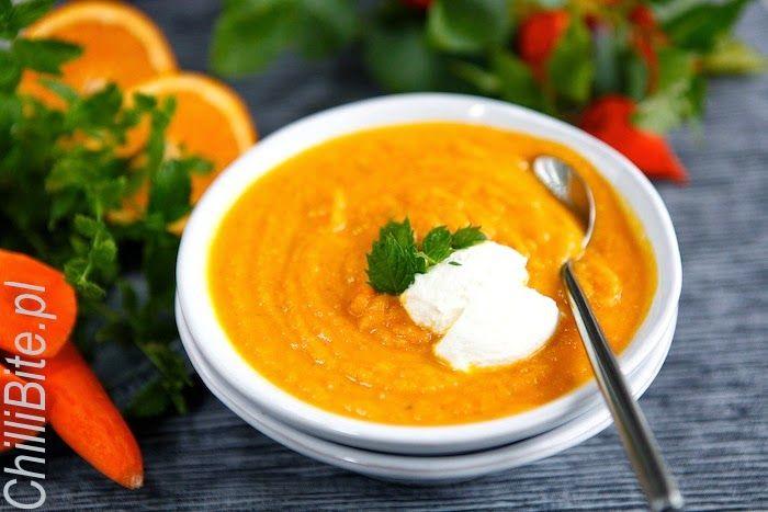 ChilliBite.pl - motywuje do gotowania!: Zupa marchewkowa z pomarańczą i miętą