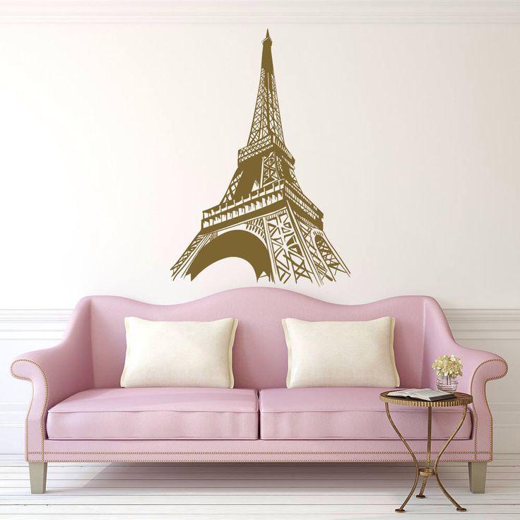 Paris Wall Decal - Paris Theme Decor- Eiffel Tower Wall Decal- Paris Bedroom Wall Decor - Paris Wall Art - Eiffel Tower Decor Bedroom 174 by PonyDecal on Etsy https://www.etsy.com/listing/533386557/paris-wall-decal-paris-theme-decor