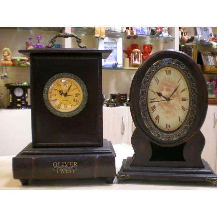 Antika Ahşap Masa Saatleri