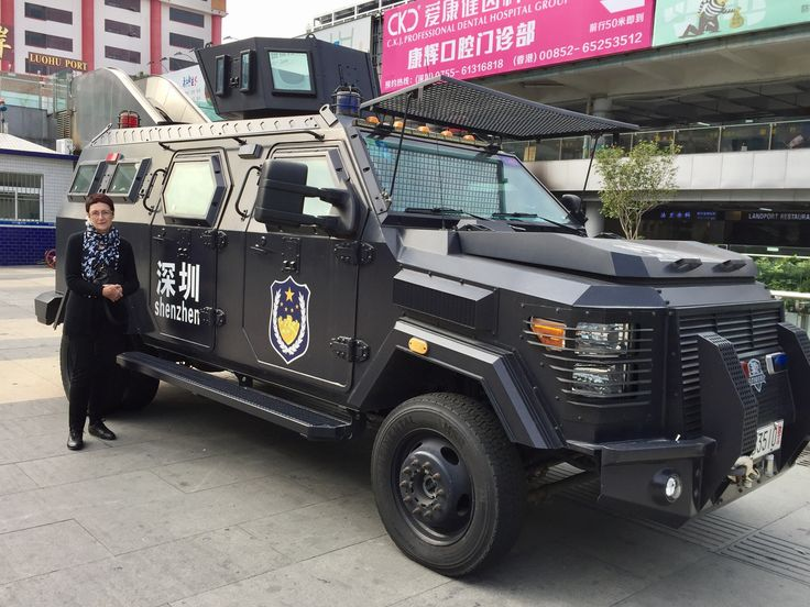 Bill ✔️ Police and government security forces are taking public safety quite seriously at the moment. This is a Police utility vehicle, used in Shenzhen, Guangzhou, Southern China. Bill Gibson-Patmore. (iPhone image, curation & caption: @BillGP). Bill😄 🇳🇿✔️.