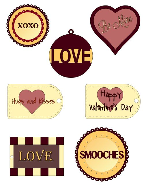 More Valentine's Day Tags - Free Printable and Silhouette File