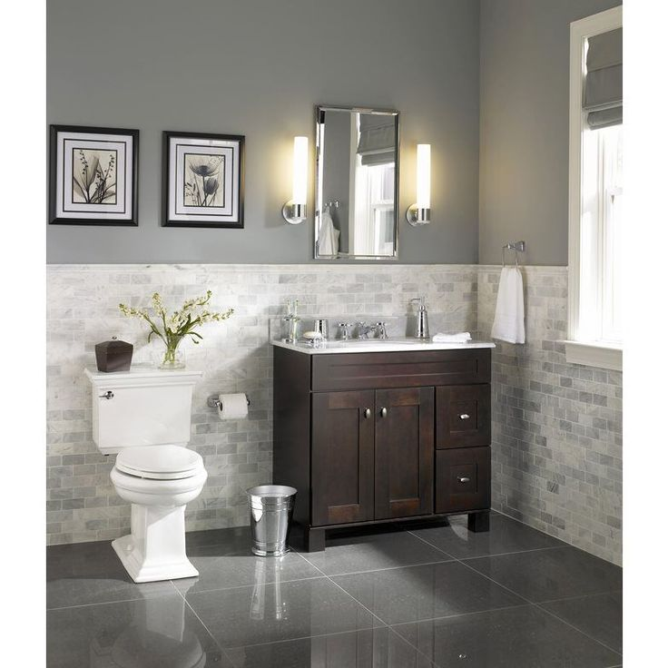 I like this but flip flopped Allen + roth Palencia Espresso Contemporary Bathroom Vanity | Lowe's Canada