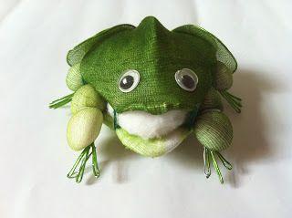 Handmade Stocking Flowers - Singapore: Handmade Art and Craft Green Frog