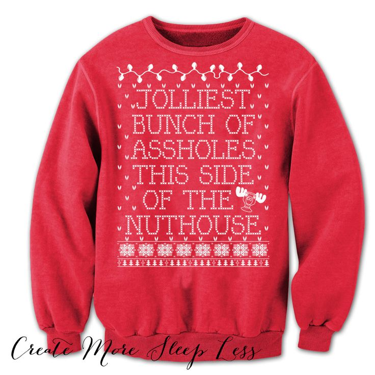 Christmas Vacation Sweater. Tacky Christmas Sweater. Griswold Christmas. Clark Griswold. Christmas Sweatshirt. National Lampoon. Red Sweater by CreateMoreSleepLess on Etsy https://www.etsy.com/listing/247478472/christmas-vacation-sweater-tacky