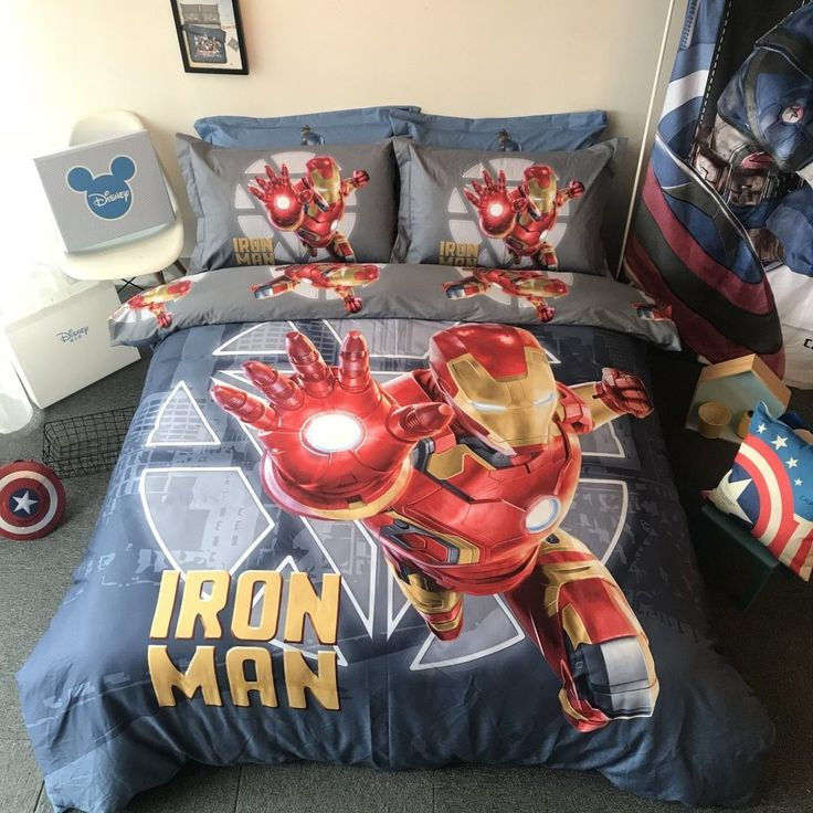 Marvel Iron Man Comforter Set Twin Queen Size