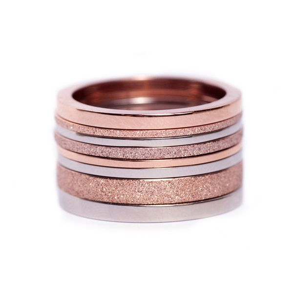 Segments rings 8 fr Edblad - 8 rings of stainless steel. Some with bronze gold plated and / or glitter polish.