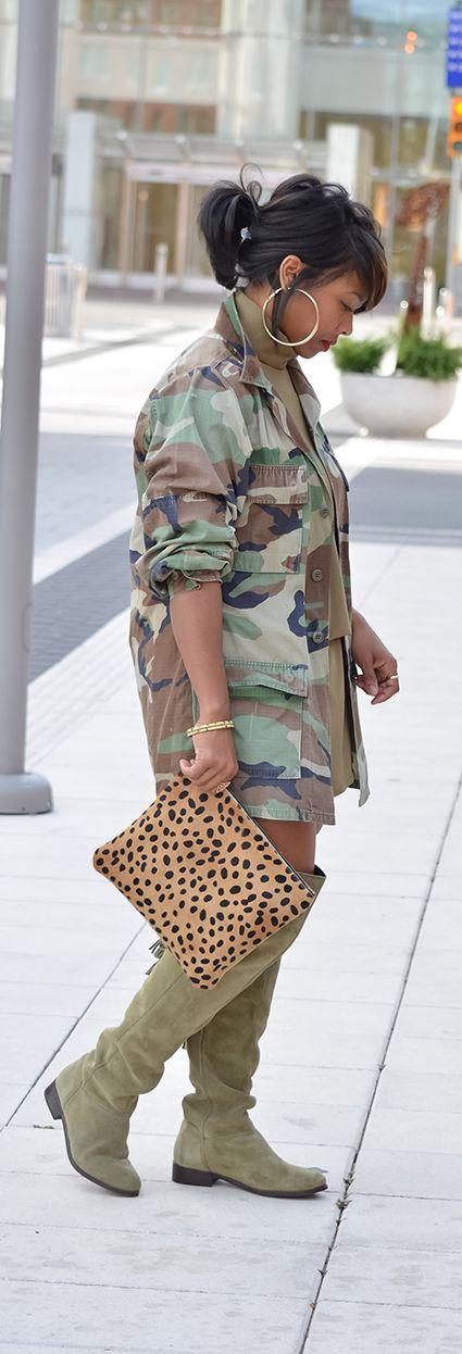 Camo, Army Green, Leopard, Mix Prints, OTK boots