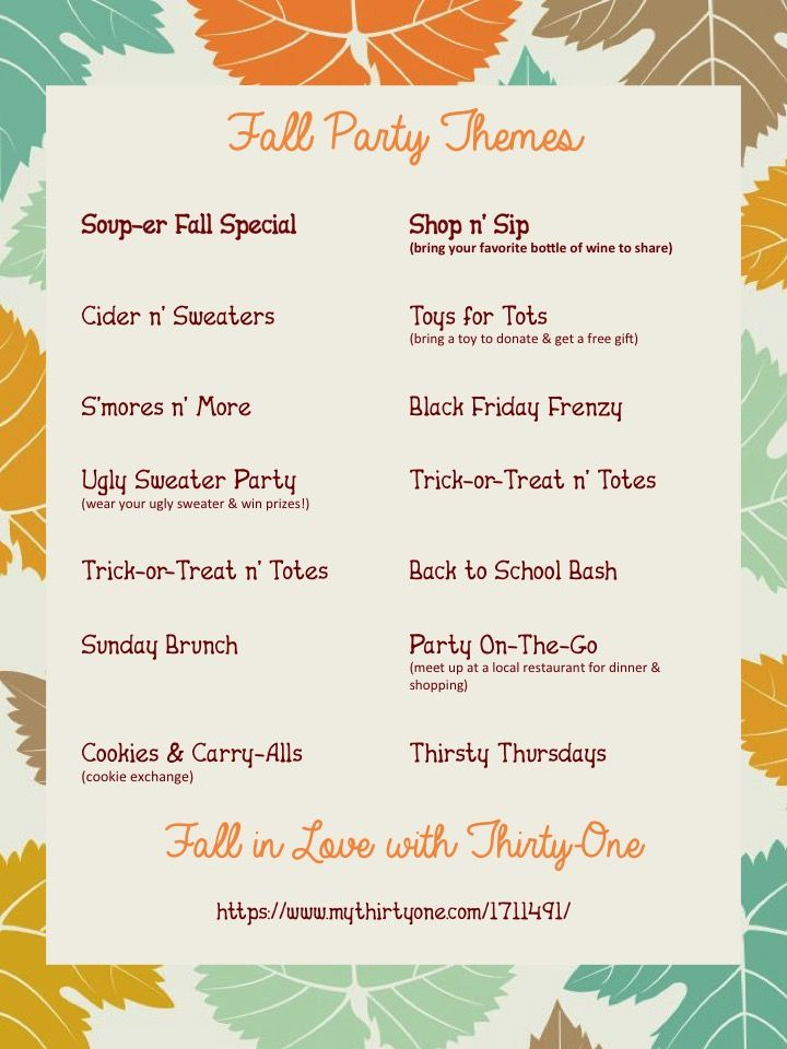 Party themes for Thirty-One!