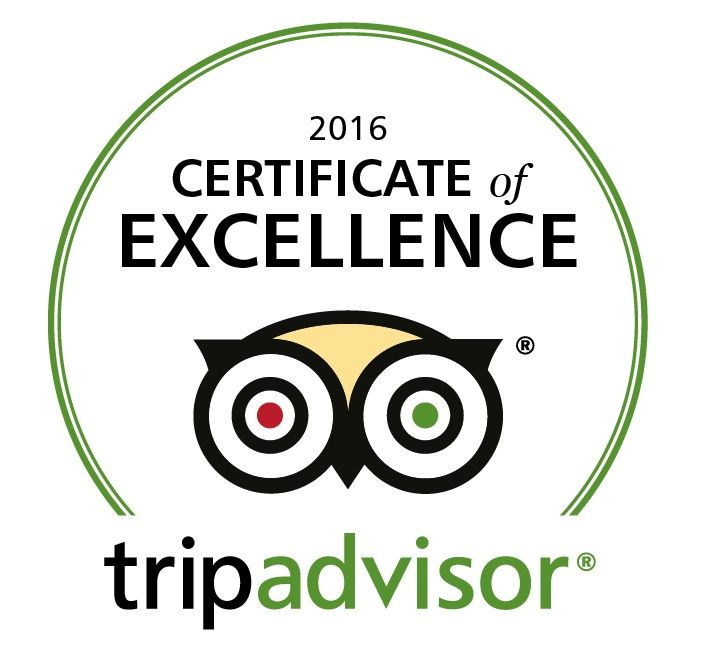 We are delighted to have received a TripAdvisor Certificate of Excellence for 2016!