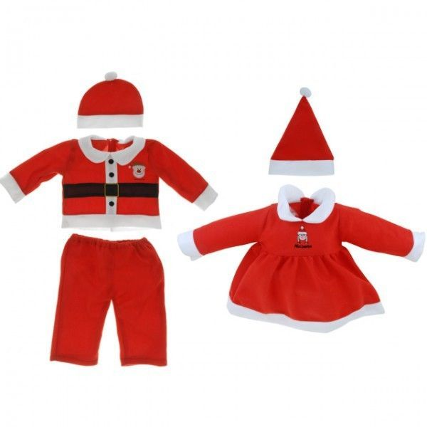 Kinder Weihnachtsanzug Baby Weihnachtskostüm Kostüm rot weiß Kleidung Santa NEU