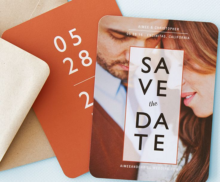 Recently engaged? Here's a tip, determine the number of couples rather than guests when ordering save the dates, and remember to send them 6 months before the wedding!