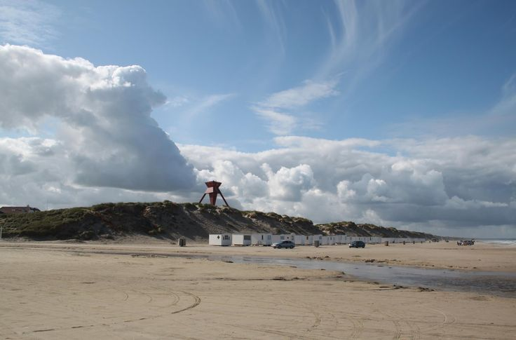 Løkken Beach, at the westcoast of Denmark