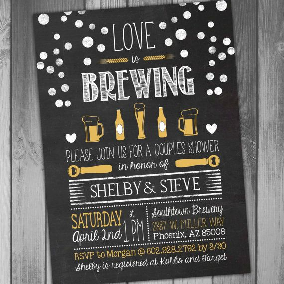 This listing is for the above Couples Shower Invitation You can purchase the digital file only or have me print the invitations for you.  Need matching items? Get them here:  Thank You Card: https://www.etsy.com/listing/466311767/thank-you-card-love-is-brewing-thank-you?ref=shop_home_active_1  ************HOW TO ORDER************  *Please list the personalized details that you will need in the notes section during checkout. *If you would like different colors, please include that in your…