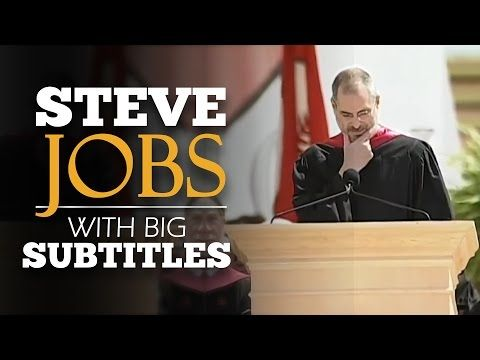 (68) {LEARN ENGLISH} Steve Jobs: Stanford Commencement | SPEECH with BIG SUBTITLES - YouTube