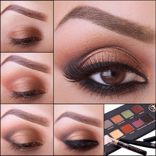 A beautiful smokey browns eye that @elymarino did for the Lavish palette insert.
