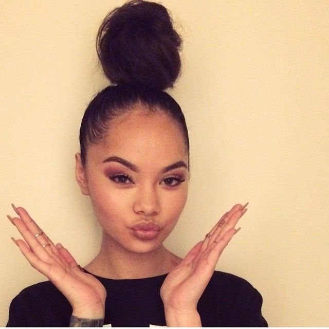 Messy Bun On Black People 1000 Images About Mayleen
