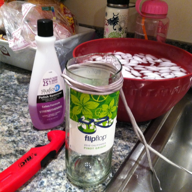 226 best images about diy on pinterest glass bottles for How to cut glass with string and fire