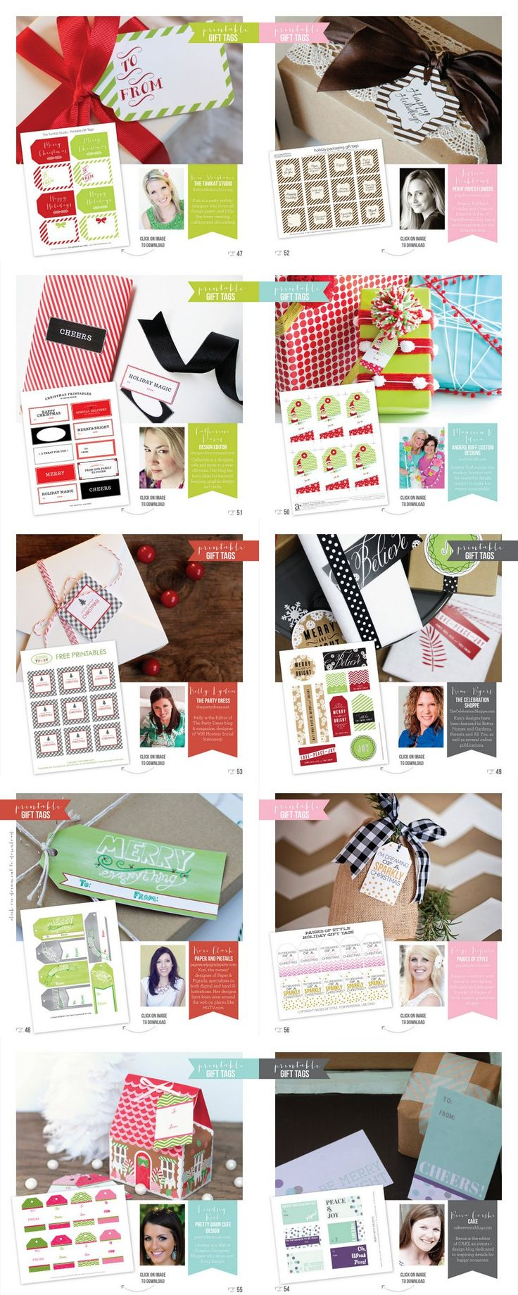 Free Printable Gift Tags from 10 Fabulous Designers :: Holiday Gift Guide