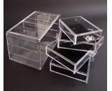 Clear acrylic storage box with four drawers CO-054