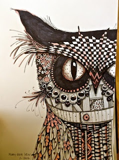 Owls Drawings Illustrations Zentangle owl illustration