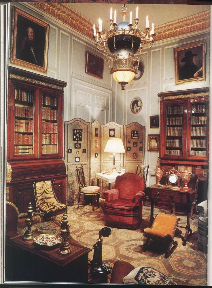 Geffroy's sumptuous library for the Paris house of Daisy Fellowes, the best-dressed Singer sewing-machine heiress.