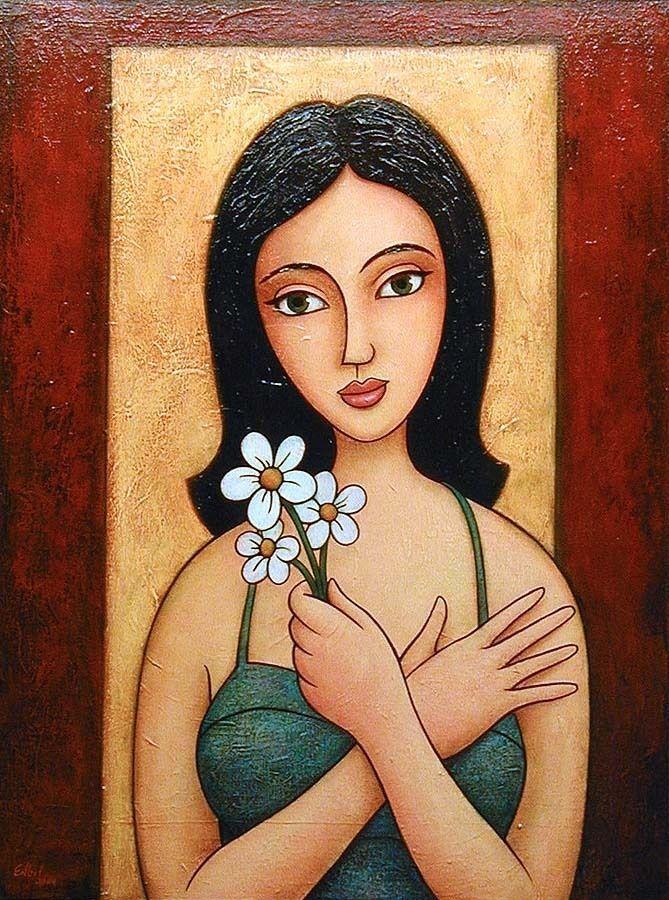 """three white flowers"", 2004 Norman Engel"